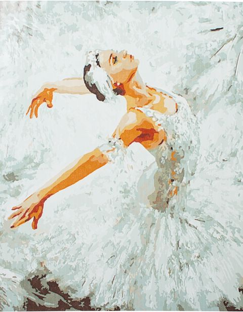 """Картина по номерам """"Белый лебедь"""" (400х500 мм) — фото, картинка"""
