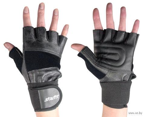 Перчатки атлетические SU-125 (M; чёрные) — фото, картинка