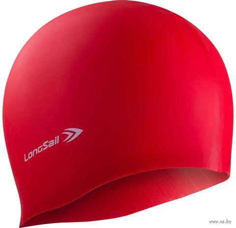 Шапочка для плавания (силиконовая; красная) — фото, картинка