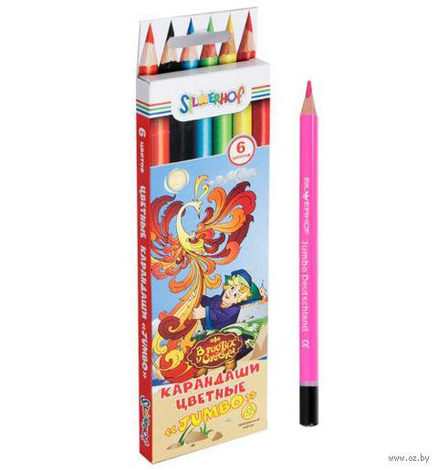 """Цветные карандаши """"Jumbo. В гостях у сказки"""" (6 цветов)"""