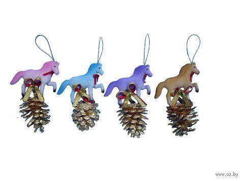 """Новогоднее украшение """"Лошадь на шишке"""""""