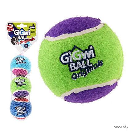 """Игрушка для собак """"Теннисный мяч"""" (3 шт.; 6,3 см) — фото, картинка"""