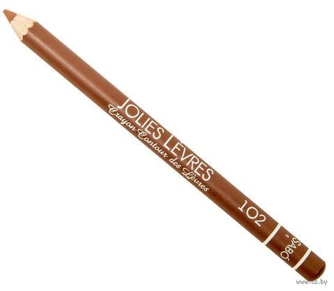 """Карандаш для губ """"Jolies Levres"""" (тон: 102, светло-коричневый) — фото, картинка"""