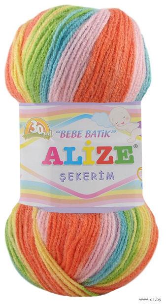 "Пряжа ""ALIZE. Sekerim Bebe Batik №4400"" (100 г; 320 м) — фото, картинка"