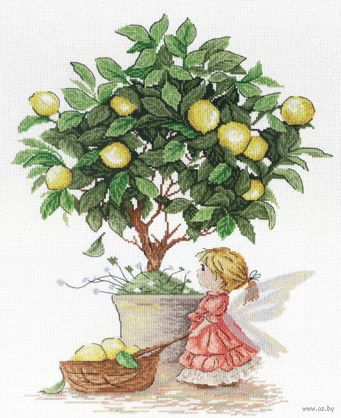 "Вышивка крестом ""Лимонная фея"" (350х300 мм) — фото, картинка"