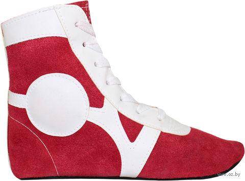 Обувь для самбо SM-0101 (р. 36; замша; красная) — фото, картинка