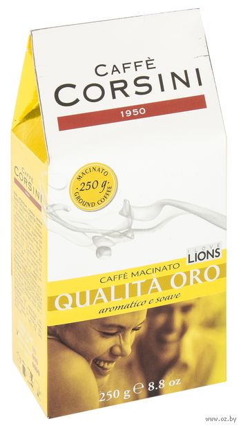 "Кофе молотый ""Caffe Corsini. Qualita Oro"" (250 г) — фото, картинка"