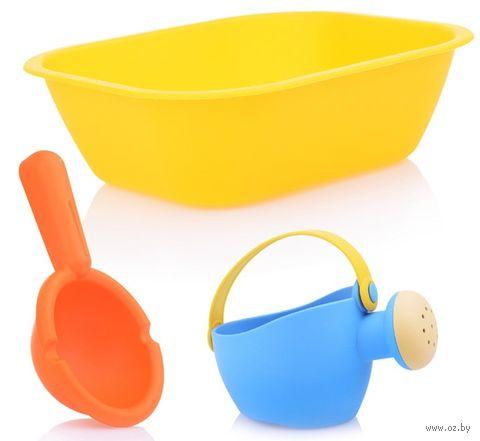 """Набор игрушек для купания """"Ванночка, лейка и ковшик"""" (3 шт.) — фото, картинка"""