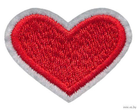 """Термоаппликация """"Сердце с кантом"""" — фото, картинка"""