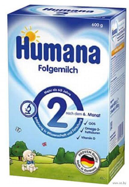 """Сухая молочная смесь Humana """"Folgemich 2"""" (600 г) — фото, картинка"""