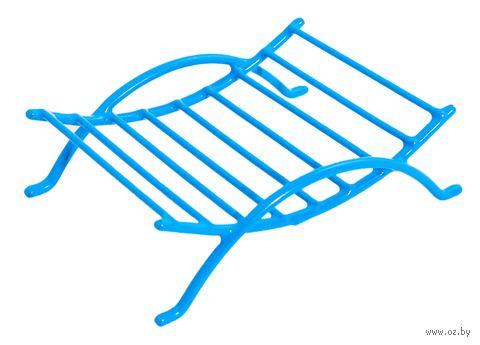 Подставка для мыла металлическая с полимерным покрытием (12х9х3,5 см)