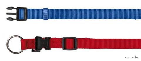 """Ошейник нейлоновый для собак """"Premium Collar"""" (размер XS–S, 22-35 см, синий)"""