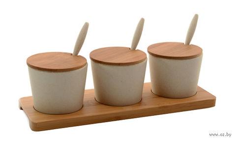 Набор банок бамбуковых (3 шт.; 100 мл)