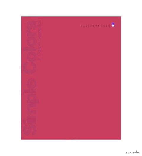 """Тетрадь полуобщая в линейку """"Простые цвета"""" (48 листов; в ассортименте) — фото, картинка"""