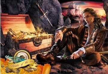 """Пазл """"Волшебный мир. Пират и сокровища"""" (250 элементов) — фото, картинка"""