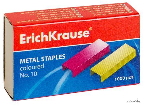 Скобы для степлера №10 (1000 шт.; цветные)
