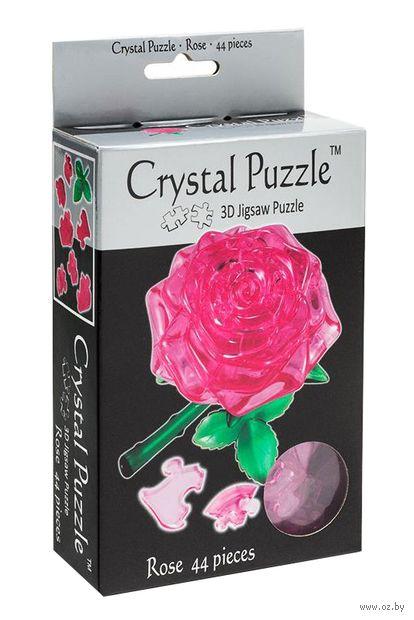 "Пазл-головоломка ""Crystal Puzzle. Розовая роза"" (44 элемента)"