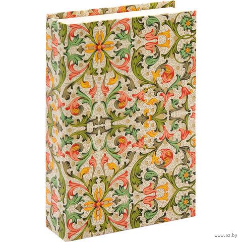 "Подарочная коробка ""Traditional"" (10,5х16х3,5 см; красно-зеленые элементы) — фото, картинка"