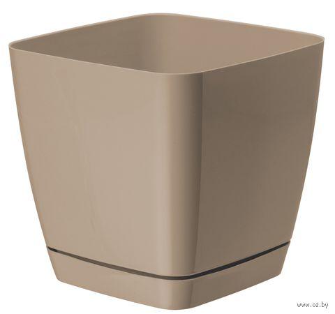 """Цветочный горшок """"Тоскана"""" (11х11х10,5 см; кофе латте) — фото, картинка"""