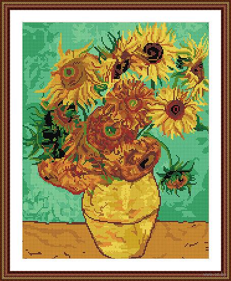 "Алмазная вышивка-мозаика ""Ван Гог. Подсолнухи"" — фото, картинка"