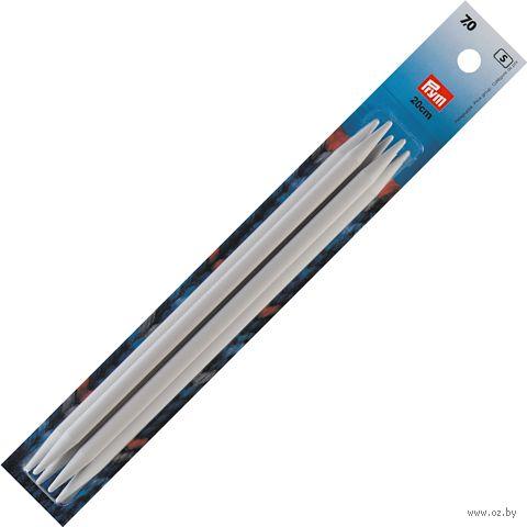Спицы чулочные для вязания (пластик; 7,0 мм; 20 см) — фото, картинка
