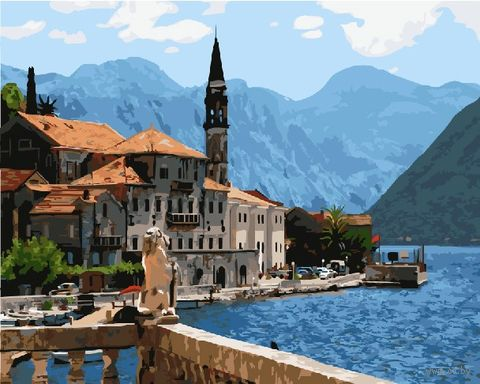 "Картина по номерам ""Красоты Средиземноморья"" (400х500 мм) — фото, картинка"