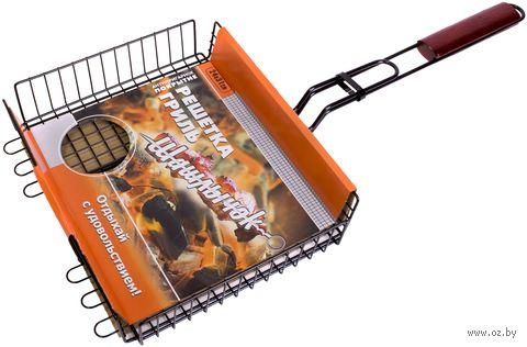 Решетка-гриль металлическая с антипригарным покрытием (24х31 см) — фото, картинка
