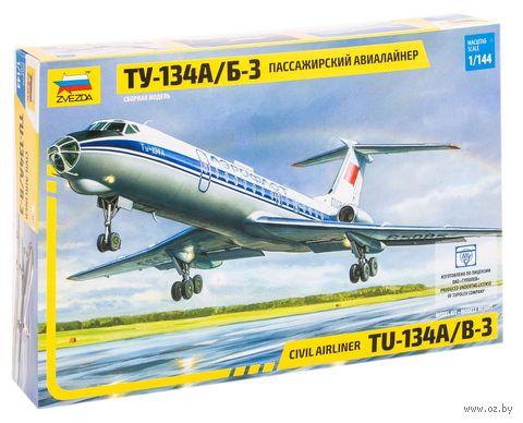 Авиалайнер Ту-134 А/Б-3 (масштаб: 1/144) — фото, картинка