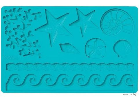 "Мат (молд) кондитерский для нанесения рисунка на мастику ""Морская жизнь"" (арт. WLT-409-2552)"