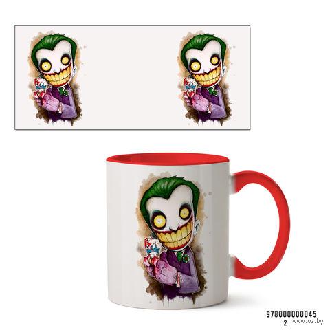 """Кружка """"Джокер из вселенной DC"""" (красная; арт. 045) — фото, картинка"""