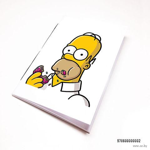 """Блокнот белый """"Гомер Симсон"""" А7 (002)"""