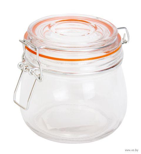 Банка для сыпучих продуктов стеклянная (500 мл; арт. 6502) — фото, картинка