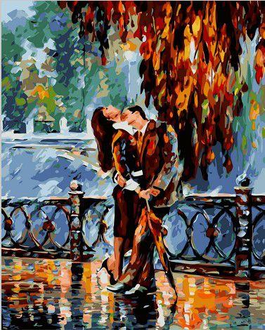 "Картина по номерам ""Страстный поцелуй"" (400х500 мм)"