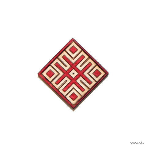 "Значок деревянный ""Белорусский орнамент. Цаліна"" — фото, картинка"