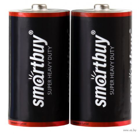 Батарейка солевая D Smartbuy (R20; 2 шт)