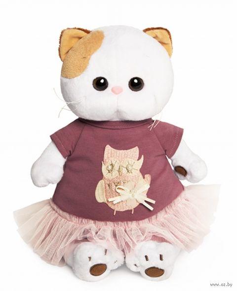 """Мягкая игрушка """"Кошечка Ли-Ли в платье с совой"""" (24 см) — фото, картинка"""