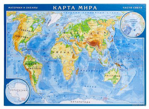 """Пазл """"Карта мира"""" (13 элементов)"""