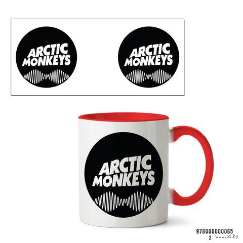 """Кружка """"Arctic Monkeys"""" (арт. 065, красная)"""