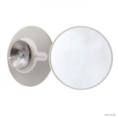 Увеличительное косметическое зеркало на присоске с магнитом
