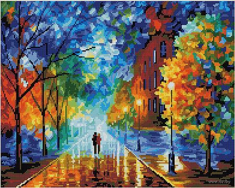 "Алмазная вышивка-мозаика ""Осенняя прогулка"" — фото, картинка"