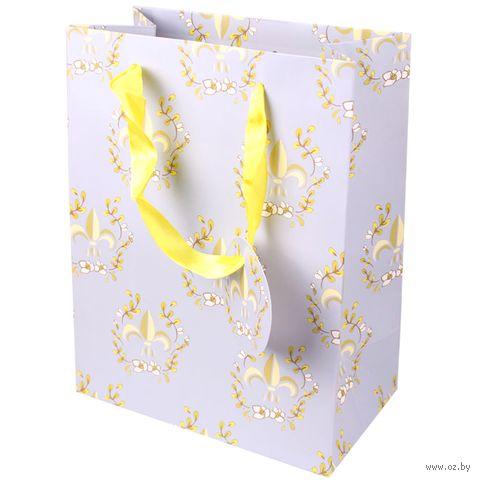 "Пакет бумажный подарочный ""Паттерн"" (18,5х10,5х23 см) — фото, картинка"