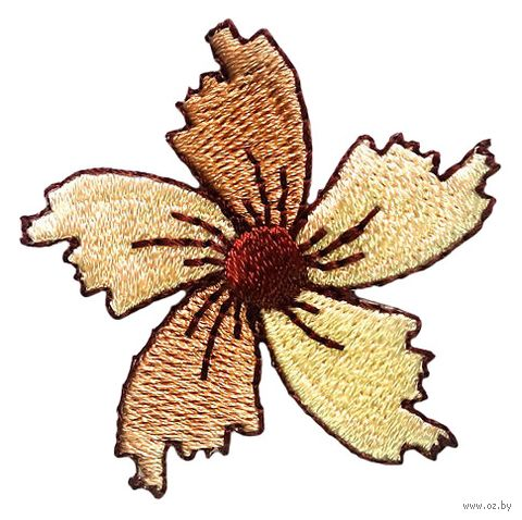 "Термоаппликация ""Цветок коричневый"" — фото, картинка"