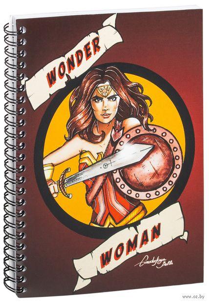 """Блокнот в клетку """"Чудо-женщина"""" (А5; арт. 1259) — фото, картинка"""