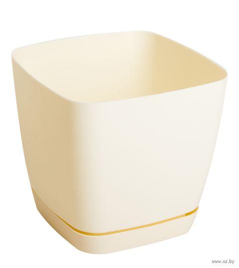 """Цветочный горшок """"Тоскана"""" (11х11х10,5 см; кремовый) — фото, картинка"""
