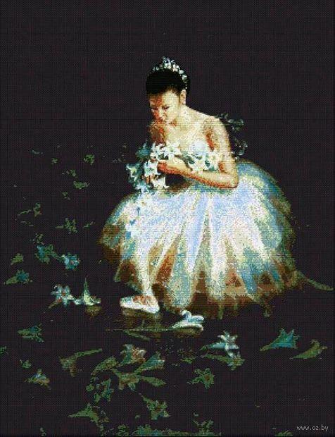 "Вышивка крестом ""Среди цветов"" (550x640 мм) — фото, картинка"