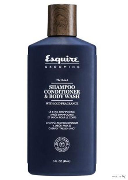 """Шампунь-гель для душа 3в1 """"Esquire"""" (89 мл) — фото, картинка"""