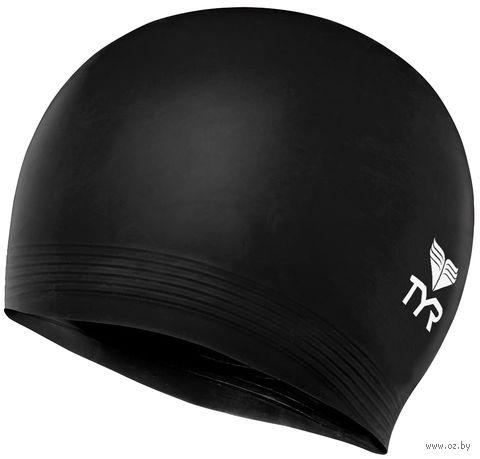 "Шапочка для плавания ""Latex Swim Cap"" (чёрная) — фото, картинка"