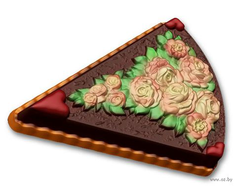 """Форма для изготовления мыла """"Пирожное с розами"""" — фото, картинка"""