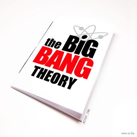 """Блокнот белый """"Теория большого взрыва"""" А6 (094)"""
