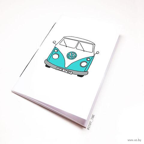 """Блокнот белый """"Volkswagen"""" А6 (721)"""